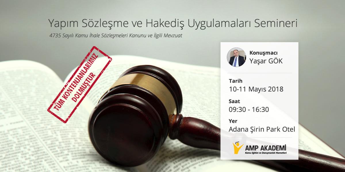 Yaşar GÖK Sözleşme ve Hakediş Uygulamaları 2018 Adana
