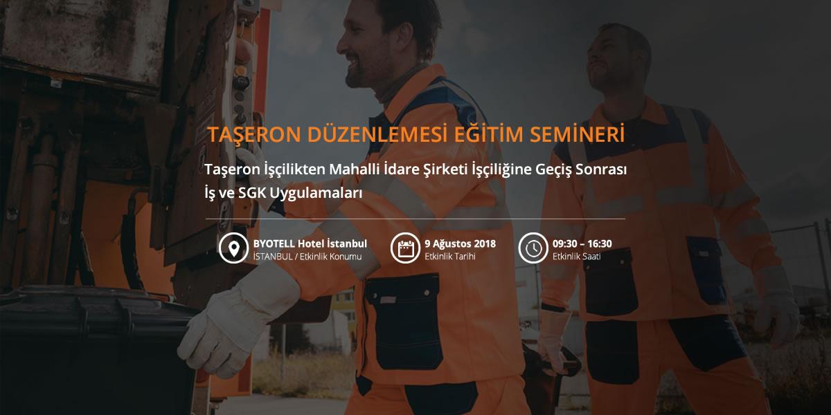 Taşeron işçilerin belediye şirketlerine geçiş sonrası işlemleri semineri