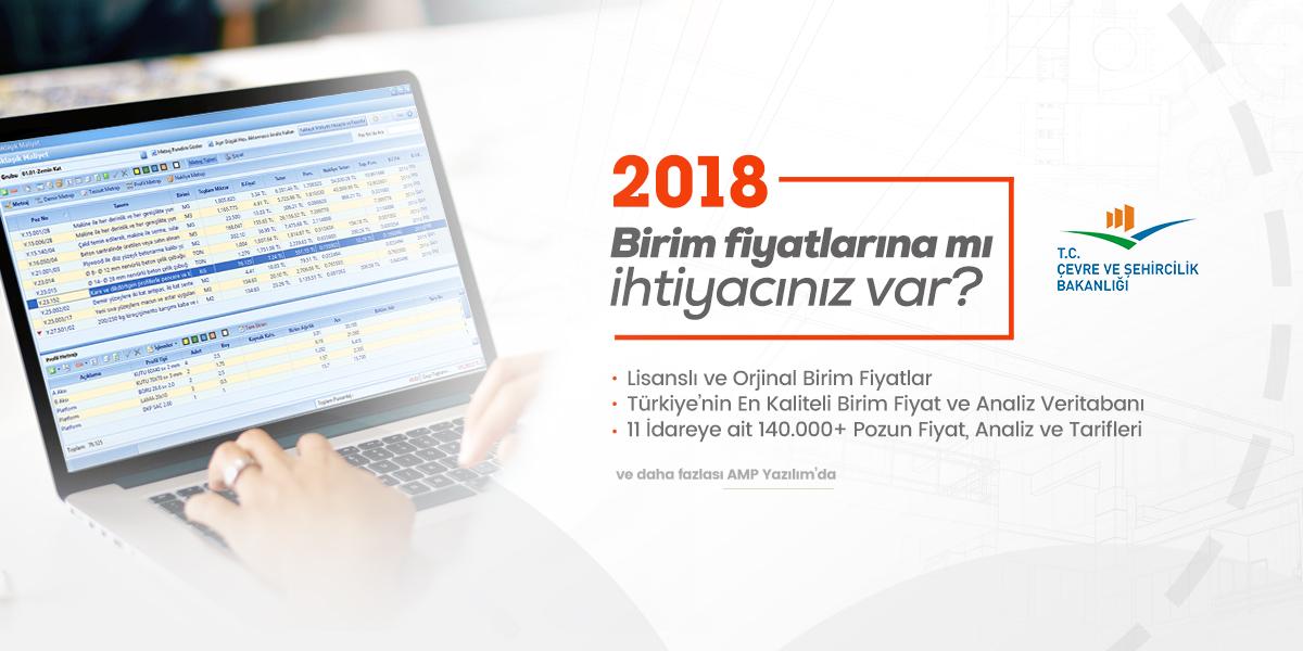 2018 Çevre ve Şehircilik Birim Fiyatları ve Analizleri