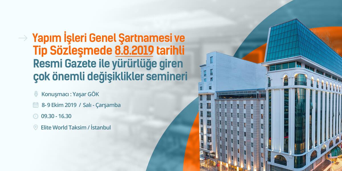 Yapım Mevzuatı Değişiklikleri Semineri İstanbul Avrupa